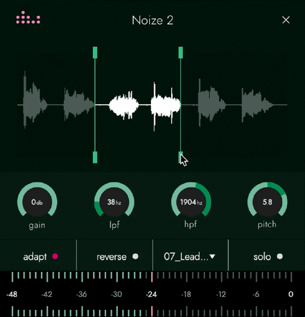 Noize 2 plugin edit sample window