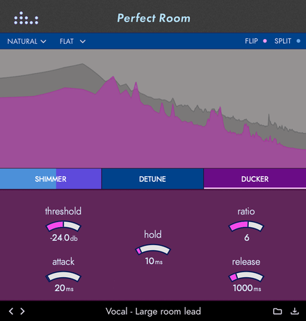 Perfect Room plugin gui with ducker tab open